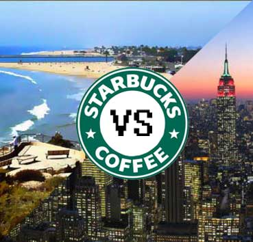 New york starbucks vs corona del mar