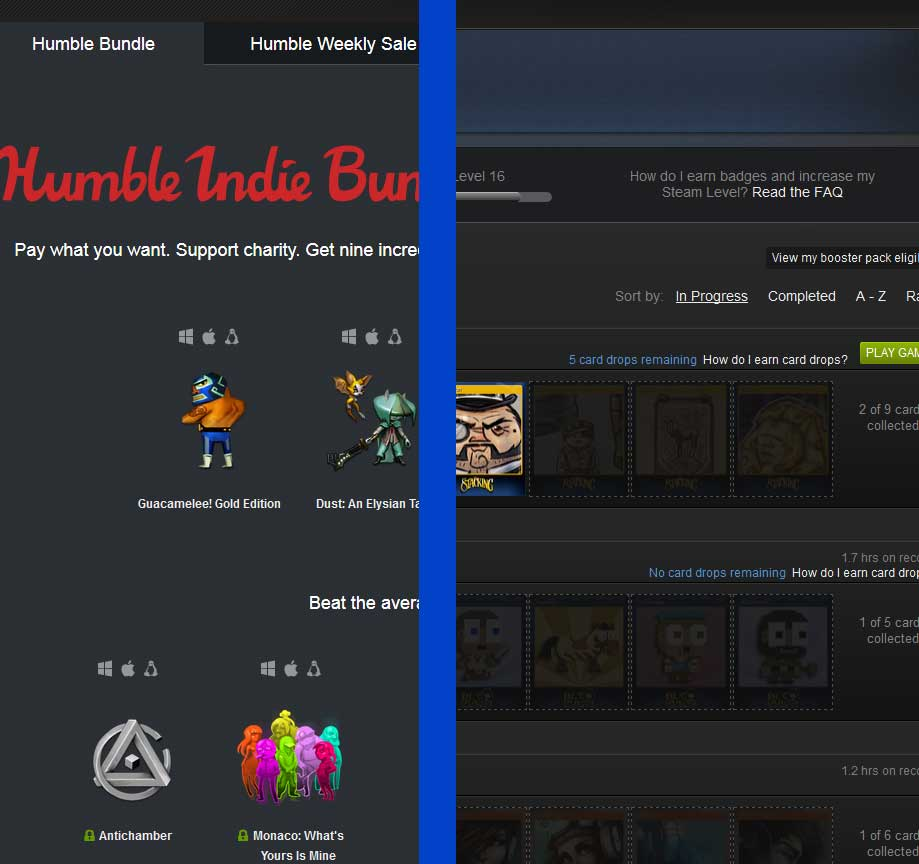 Humble Bundle And Steam Card Chaining Wallet 2 Trading Cards Can Be Sold On The Market For Dollars